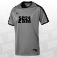 Puma 14x Liga Jersey mit SC24.com Logo & Initialen grau/schwarz Größe XXL