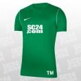 Nike 14x Dry Park 20 SS Top mit SC24.com Logo & Initialen grün/weiss Größe XXL