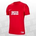 Nike 14x Dry Park 20 SS Top mit SC24.com Logo & Initialen rot/weiss Größe XXL