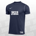 Nike 14x Dry Park 20 SS Top mit SC24.com Logo & Initialen blau/weiss Größe XXL
