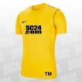 Nike 14x Dry Park 20 SS Top mit SC24.com Logo & Initialen gelb/schwarz Größe XXL