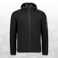 Knit-Tech Meliert Fleece Hooded Jacket