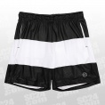White Stripe Mesh Shorts