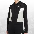 Nike Sportswear Heritage Hoodie Women schwarz/weiss Größe S