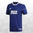 adidas 14x Squadra 17 SS Jersey mit SC24.com Logo & Initialen blau/weiss Größe XXL