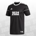 adidas 14x Squadra 17 SS Jersey mit SC24.com Logo & Initialen schwarz/weiss Größe XXL
