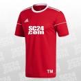 adidas 14x Squadra 17 SS Jersey mit SC24.com Logo & Initialen rot/weiss Größe XXL
