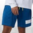 New Balance Essentials Mesh Short blau/gelb Größe M
