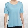 Nike Yoga Dry Layer SS Top Women blau Größe XL