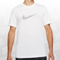 Nike Pro Dri-FIT Tee weiss/schwarz Größe L