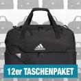 adidas Tiro Duffelbag mit Bodenfach M 12er Taschenpaket schwarz Größe UNI