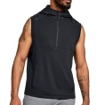 Threadborne Terry Half Zip Sleeveless Hoodie