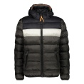 Padded Color Block Fix Hood Jacket